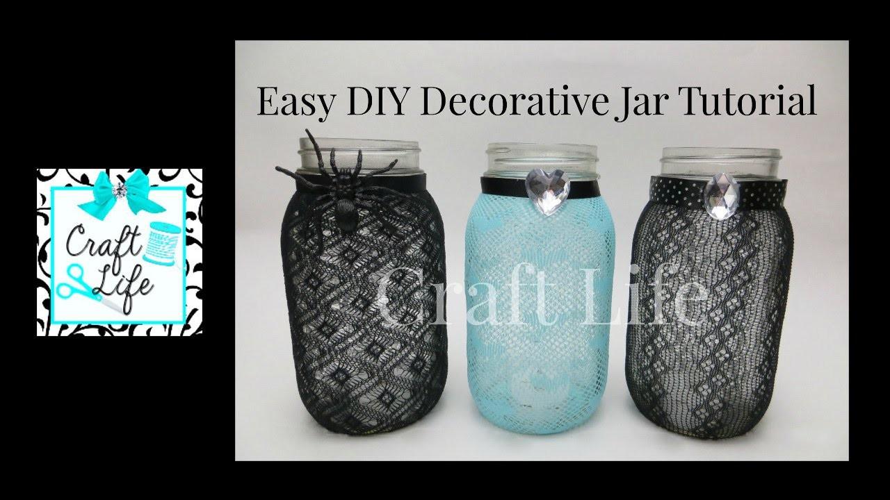 Craft Life ~ Easy DIY Decorative Jar Tutorial ~ Fun Room Decor