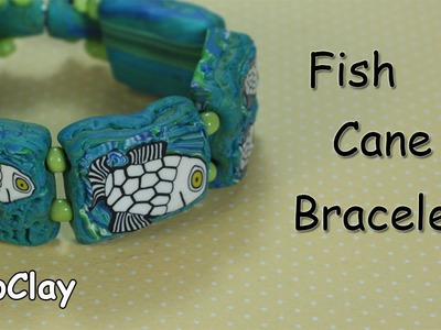 DIY: How to make a Fish cane bracelet - Polymer clay tutorial