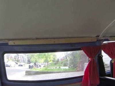 DIY VW love bus interior. Giving the Hippie Van some feng shui