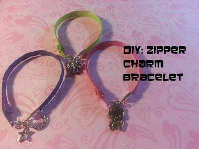 DIY: Zipper Charm Bracelet