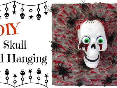 Dollar Store Skull Wall Hanging DIY ~Craft Klatch Halloween Series