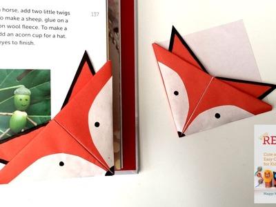 Fox Crafts - Easy Origami Bookmark