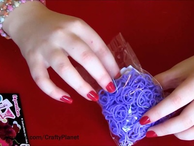 GRAPE Scented Rainbow Loom Rubber Band Haul - Rubber Band Bracelets Rings Charms Twistz Bandz