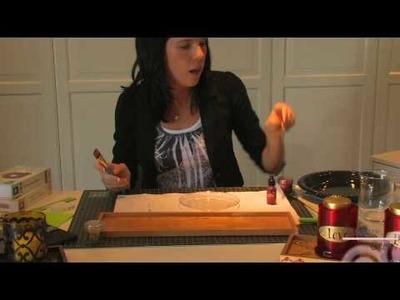 Handmade Christmas Jars (Step 2)- Using Tim Holtz Adirondak Alcohol Ink