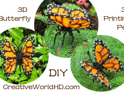 How to Make 3D Butterfly - 3D Printing Pen.Scribbler DIY Tutorial Creations