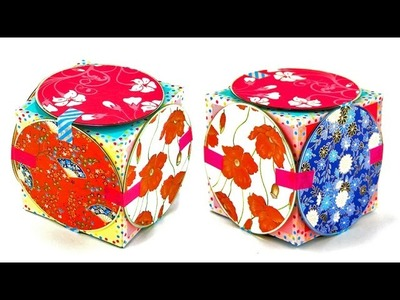 How to Make a Cute CD Gift Box ~Recycled Craft Idea~