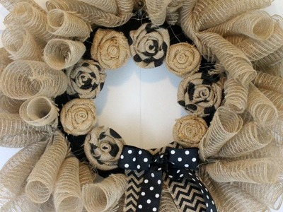 How To Make A Deco Mesh And Burlap Wreath - DIY Home Tutorial - Guidecentral