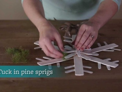 How to Make a Paint Stick Snowflake