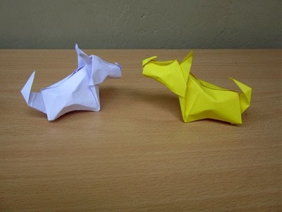 How to Make a Paper Dog (Little Terrier) - Easy Tutorials