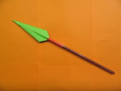 How to Make a Paper Spear - Easy tutorials