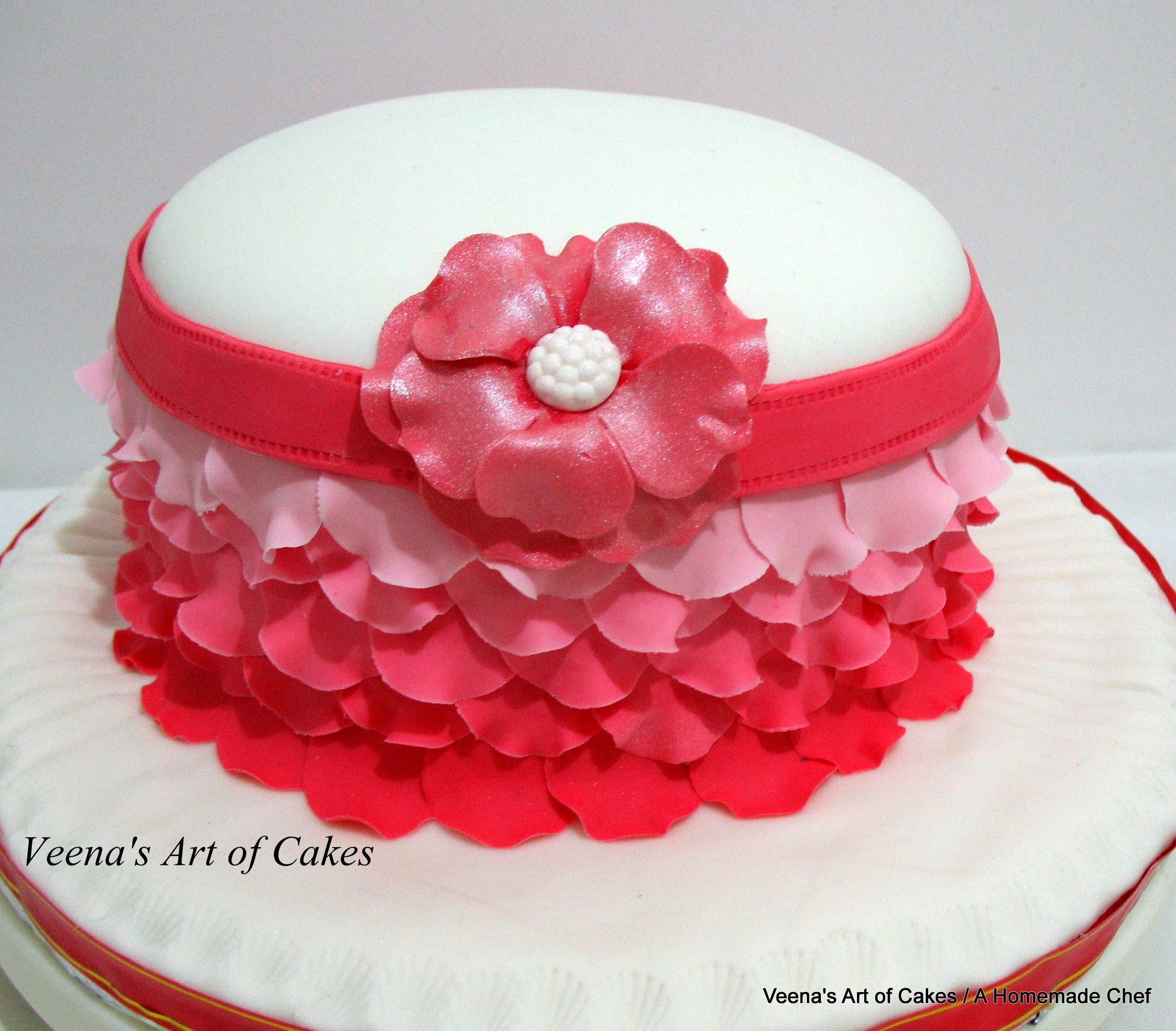 How to make  An Ombre Rose Petal Cake