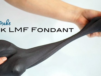 How to make Black Fondant