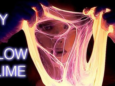 How to make Glow in the Dark UV SLIME - DIY Tutorial - Halloween Ideas