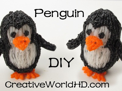 How to Make Penguin 3D - 3D Printing Pen Creations.Scribbler DIY Tutorial
