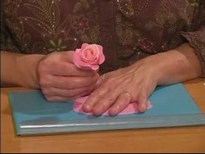 How to Make Sugar Gum Paste Flowers : Making a Full-Sized Rose with Gum Paste