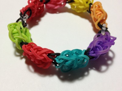 How to make the new rainbow loom bracelet: The Flower bomb bracelet