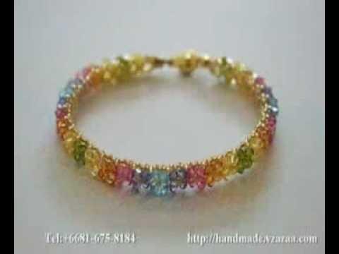 Jewelry designer handmade swarovski beaded crystal
