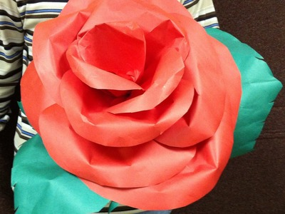 Learn How to make a Giant paper's flowers for Mother's Day decorations