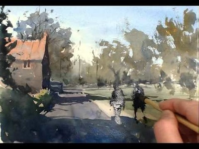 Live online watercolour demonstration by Tim Wilmot Feb 12 2015