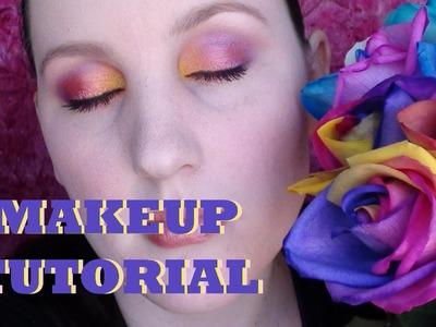 Makeup Tutorial - Rainbow Roses Inspired Look