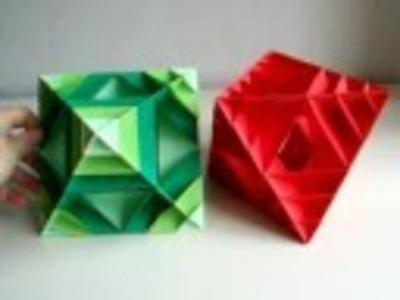 Origami - modular - scaled octahedron (Laura Azgoaca) - dutchpapergirl