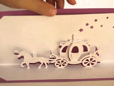 ORIGAMIC ARCHITECTURE POP UP CINDERELLA COACH