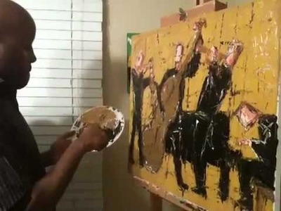 Painting Demonstration with Palette Knife Part 3