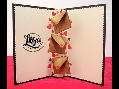 Pop up envelopes card - V061