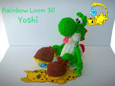 Rainbow Loom 3D Yoshi (Part 9.15)