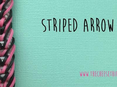 Rainbow Loom Bands Striped Arrow Tutorial