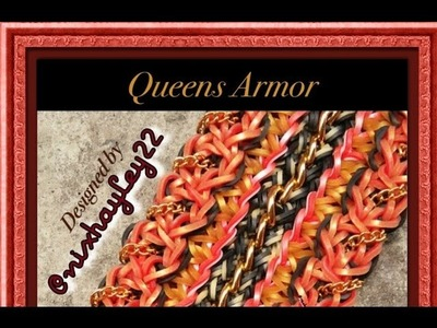 Rainbow Loom Queens Armor Bracelet Tutorial.How To