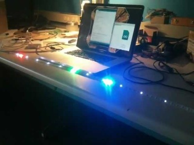 Single line 24h clock made from 1m NeoPixel LED strip