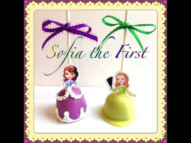 Sofia the First Cake Pops