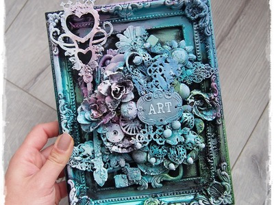Tutorial altered mixed media frame 'Art' by Marta Lapkowska