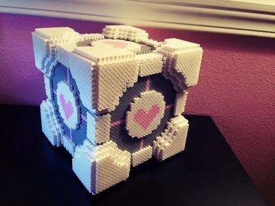 3D Perler Bead Companion Cube Tutorial!