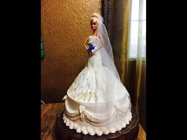 Bride Barbie Doll Cake- Cake Decorating- Buttercream