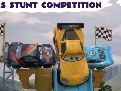 Cars Stunt Competition Story Peppa Pig Play Doh Pocoyo Disney Mickey Mouse Lightning McQueen