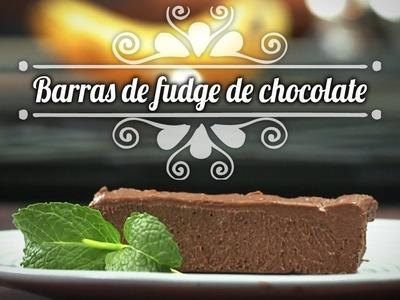 Chef Oropeza Recetas para Halloween:Barras de Fudge de chocolate-Chocolate Fudge Bars