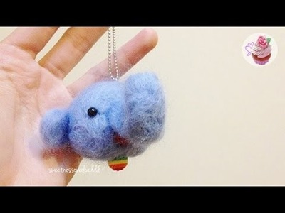 Daiso kit: Needle felted elephant