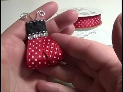 DIY~Adorable Ribbon Ladybug! So Many Uses!