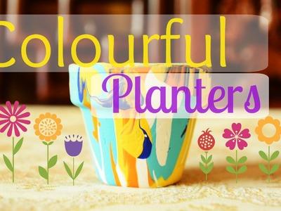 DIY: Colourful Planters. Pot