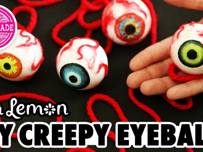 DIY Creepy Eyeballs with Sea Lemon - HGTV Handmade
