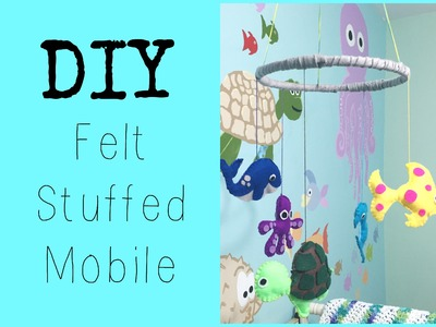 DIY: Felt Mobile ♡ {Nursery Decor} ♡ Jessica Joaquin