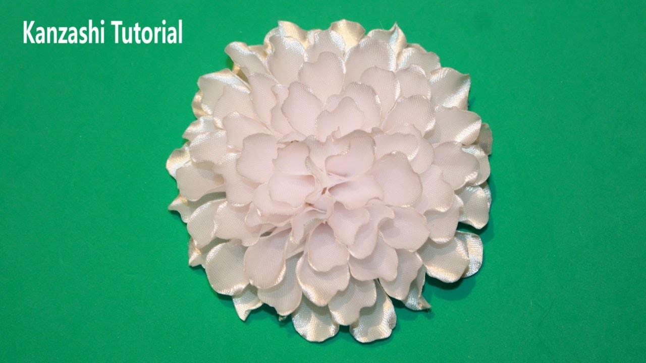 DIY Kanzashi Flores de Cinta Kanzashi Tutorial