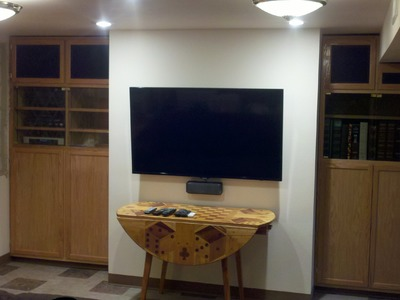 DIY Oak Entertainment Center - Custom Built