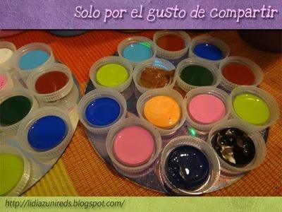 (DIY) Paletas para la pintura (RRR). how to. Recycle