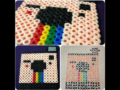 DIY: Polaroid Camera (Melting Bead Pattern) ♡ Theeasydiy #Crafty