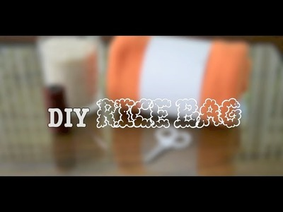 DIY | Rice Bag | Homemade Heating Pad