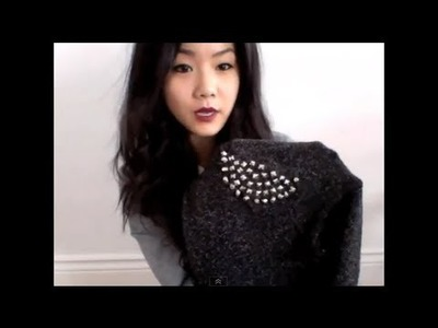 DIY Studding your Sweater Shoulder!