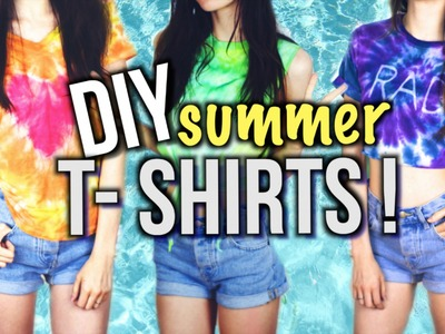 DIY T-Shirts For Summer! Tie Dye and T-shirt reconstruction!